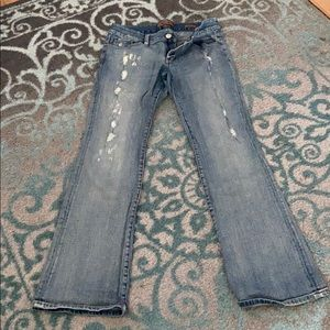 Seven7 jeans size 8/30 boot cut with rips